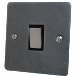 Flat Plate Pewter Rocker Light Switches